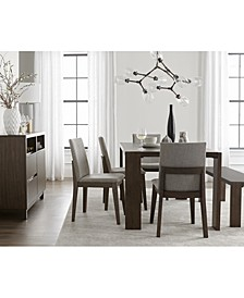 Closeout! Crosby Dining 6-Pc. Set (Table, 4 Upholstered Side Chairs & 1 Bench), Created for Macy's