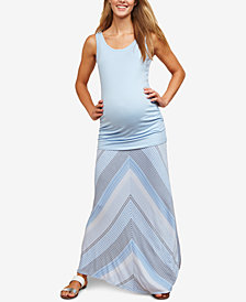 Motherhood Maternity Printed Maxi Skirt