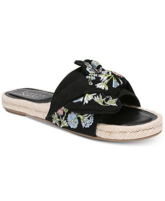 Franco Sarto Phantom Embroidered Espadrille Slides