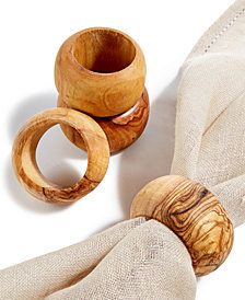 Global Goods Partners Set of 4 Napkin Rings
