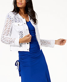 I.N.C. Sheer Lace Jacket, Created for Macy's