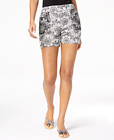 I.N.C. Printed Jacquard Shorts, Created for Macy's