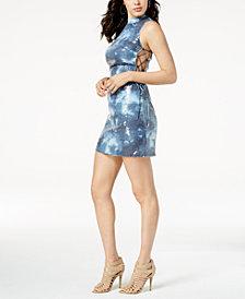 GUESS Kiella Sequin Lace-Up Dress