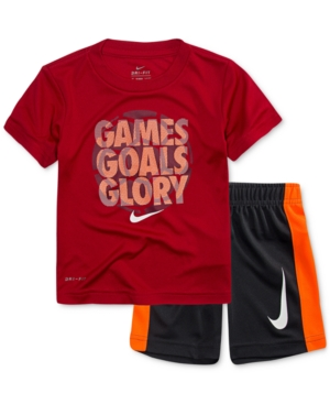 Nike 2Pc GamesPrint TShirt  Shorts Set Little Boys