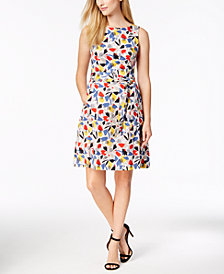 Anne Klein Gazebo Printed Fit & Flare Dress