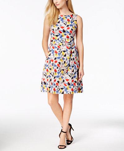 Anne Klein Gazebo Printed Fit & Flare Dress