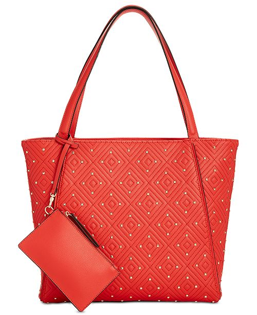 246ad9fbfc83 INC International Concepts I.N.C. Quiin Quilted Studded Tote ...