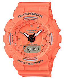 G-Shock Women's Analog-Digital Orange Resin Strap Step Tracker Watch 49.5mm