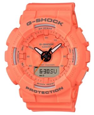 G-Shock G-SHOCK WOMEN'S ANALOG-DIGITAL ORANGE RESIN STRAP WATCH 49.5MM