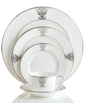 main image; main image ...  sc 1 st  Macy\u0027s & Vera Wang Wedgwood Dinnerware Imperial Scroll Collection - Fine ...