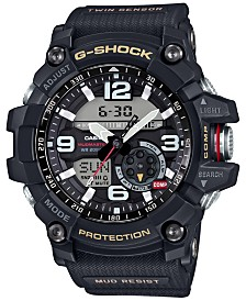 G-Shock Men's Analog-Digital Mud Master Black Resin Strap Watch 52mm