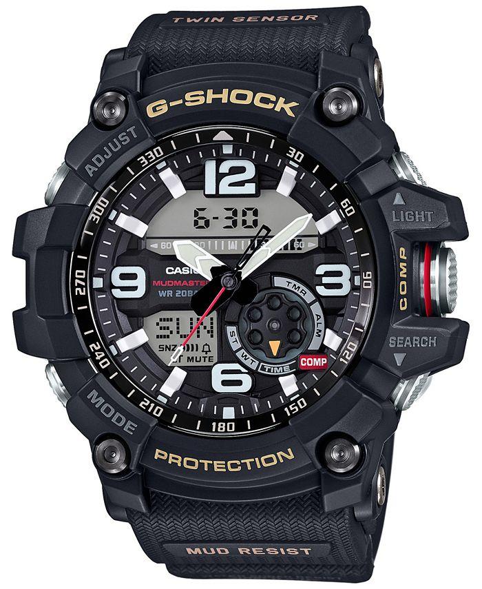 G-Shock - Men's Analog-Digital Mudmaster Black Resin Strap Watch 52mm