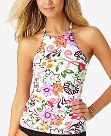 Anne Cole Fleetwood Floral-Print High-Neck Tankini Top