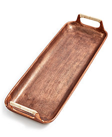 Lucky Brand Small Textured Copper Metal Serving Tray