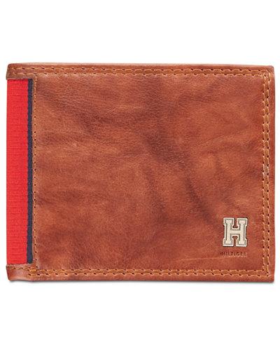Tommy Hilfiger Men's Huck Leather Traveler Wallet