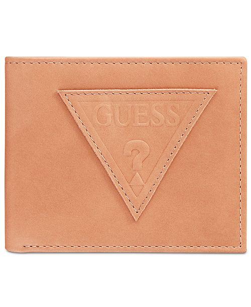 GUESS Men's Ponoma Leather Passcase