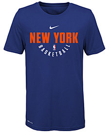 Nike New York Knicks Elite Practice T-Shirt, Big Boys (8-20)