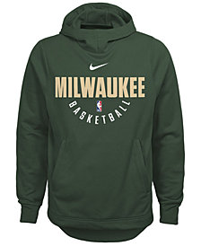 Nike Milwaukee Bucks Elite Practice Hoodie, Big Boys (8-20)