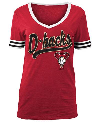 5th & Ocean Women's Arizona Diamondbacks Retro V-Neck T-Shirt