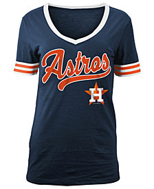 5th & Ocean Women's Houston Astros Retro V-Neck T-Shirt