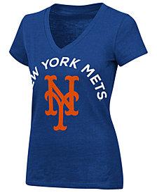 G-III Sports Women's New York Mets Classic Logo V-Neck T-Shirt
