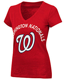 G-III Sports Women's Washington Nationals Classic Logo V-Neck T-Shirt