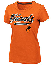 G-III Sports Women's San Francisco Giants Script Foil T-Shirt