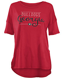 Royce Apparel Inc Women's Georgia Bulldogs Hip Script Modal Crew T-Shirt