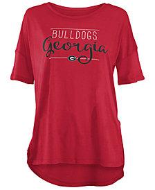 Royce Apparel Inc Women's Georgia Bulldogs Hip Script Modal Crew T-Shirt