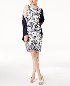 Charter Club Petite Floral-Print Dress, Created for Macy's