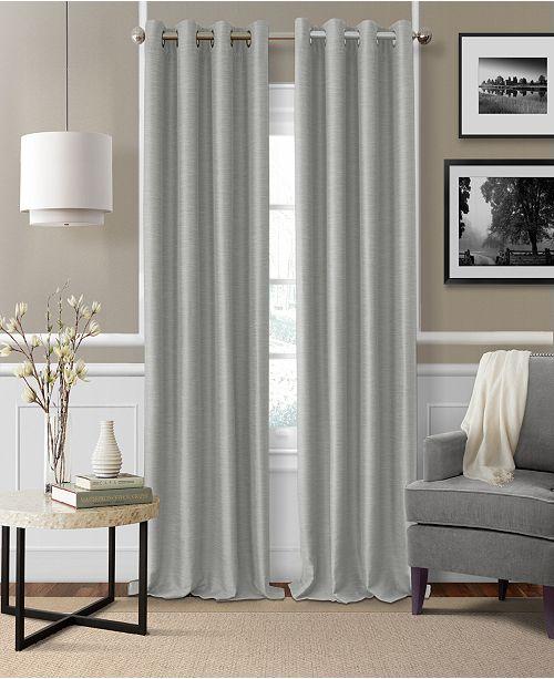 Elrene Brooke 52 X 84 Faux Silk Blackout Grommet Curtain Panel