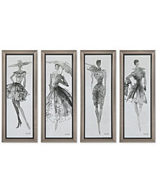 Uttermost Fashion Sketchbook, Set of 4