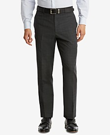 Men's Modern-Fit TH Flex Performance Plaid Suit Pants