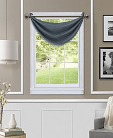"Brooke 18"" x 23"" Faux-Silk Blackout Grommet Waterfall Valance"