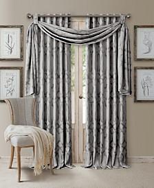 Elrene Darla Ironwork Blackout Rod Pocket/Back-Tab Curtain Panel & Valance Collection