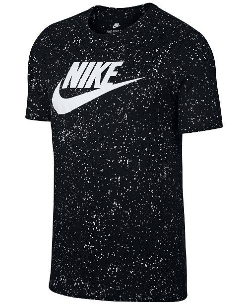 8508b9a9463 Nike Men s Sportswear Printed Logo T-Shirt   Reviews - T-Shirts ...