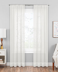 "Hudson Hill Voile 59"" x 84"" Rod Pocket Window Panel"
