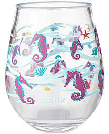 Enesco Lolita Seahorse 2-Pc. Stemless Wine Glass Set