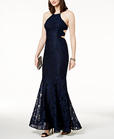XSCAPE Strappy Lace Gown