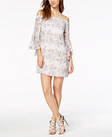 kensie Off-The-Shoulder Shift Dress