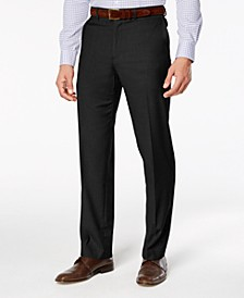 Men's Stretch Straight-Fit Performance Flat Front Dress Pants