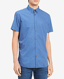 Calvin Klein Jeans Men's Big & Tall Medallion Shirt