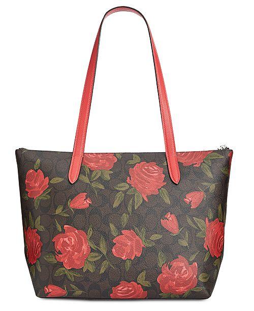 987eb332ae6 COACH Camo Rose Signature Taylor Tote   Reviews - Handbags ...