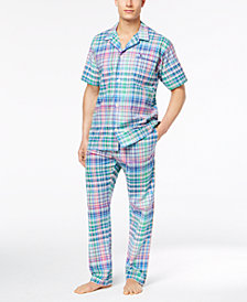 Polo Ralph Lauren Men's Woven Plaid Pajama Shirt & Pants