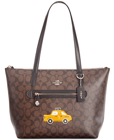 COACH NY Stories Taxi Signature Taylor Tote, Created for Macy's