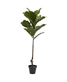4' Fiddle Leaf UV-Resistant Indoor/Outdoor Tree