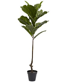 Nearly Natural 4' Fiddle Leaf UV-Resistant Indoor/Outdoor Tree