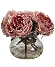 Fancy Pink Rose Arrangement with Vase