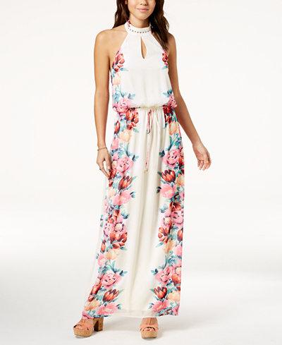 City Studios Juniors' Floral-Print Maxi Dress