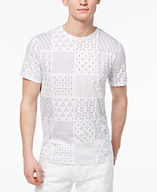 A|X Armani Exchange Men's Shashiko-Print T-Shirt